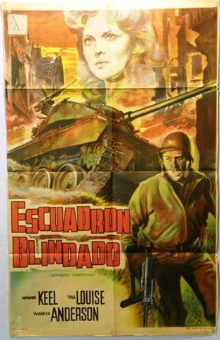 Armored Command Argentinean Movie Poster 60s