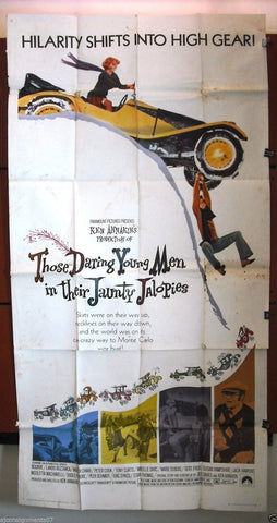 "THOSE DARING YOUNG MEN IN THEIR JAUNTY JALOPIES 3sht 41""x81"" Movie Poster 1960s"