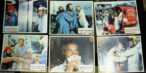 "(Set of 9) Odds and Evens (Terence Hill) 11x9"" Original German Lobby Cards 70s"