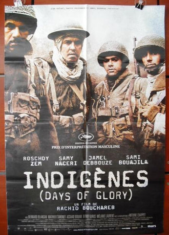 Indigènes Days of Glory Algeria 40x27 Movie Poster 2006