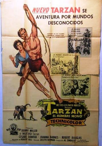 Tarzan, the Ape Man Argentinean Movie Poster 50s