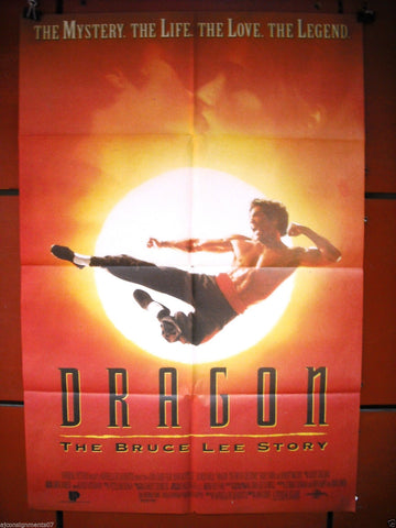 "DRAGON: the bruce lee story 40x27"" Original Lebanese Movie Poster 90s"