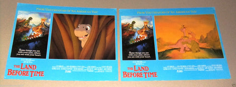 "(SET OF 8) The Land Before Time {Don Bluth} 11X14"" UK Original LOBBY CARD 80s"