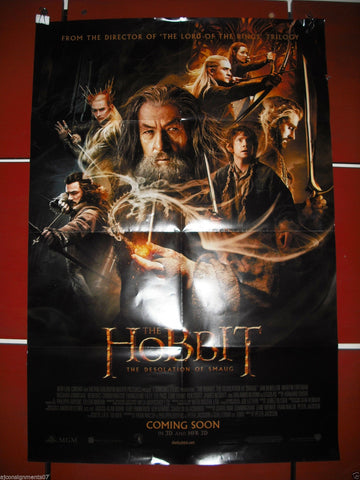 "The Hobbit: The Desolation of Smaug 40""X27"" Original Folded Movie Poster 2013"
