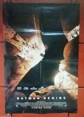 "BATMAN BEGINS Folded DB 40x27"" Original Movie Poster 2000s"