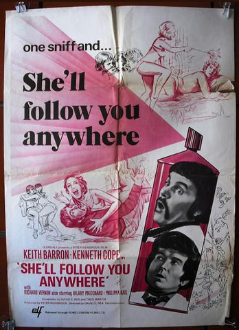 She'll Follow You Anywhere British Movie Poster 70s