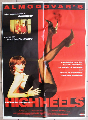 "High Heels (Almodovar's) Original 39x27"" Lebanese-style Movie Poster 90s"