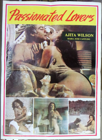 "Passionated Lovers (María José Cantudo) 20x27"" Org. Lebanese Movie Poster 80s"