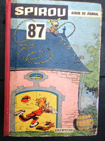 The Journal of Spirou Album No. 87 Binding French Comics 1962