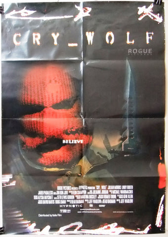 "Cry Wolf (Julian Morris) 39x27"" Original Lebanese SS Movie Poster 2000s"