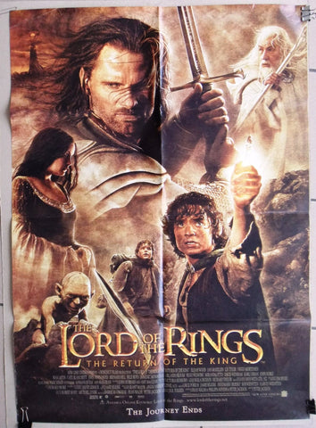 Lord of the Rings Return of the Kings Folded Original Lebanese Film Poster 2000s