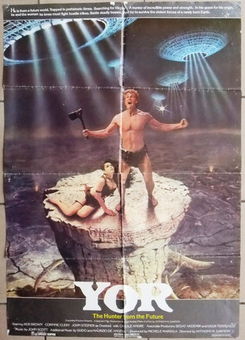 Yor, The Hunter From The Future {Reb Brown} Original Lebanese Movie Poster 80s