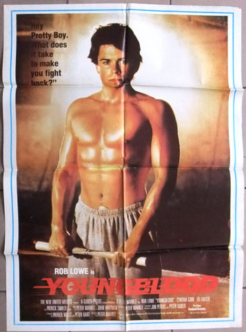 "Youngblood {Patrick Swayze} 39x27"" Original Lebanese Movie Poster 80s"