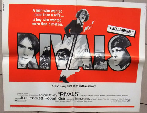 "Rivals {Joan Hackett} 22x28"" Original Movie Half Sheet Poster 70s"