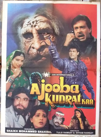 Ajooba Kudrat Kaa (Shagufta A) Indian Hindi Bollywood Original Movie Poster 90s