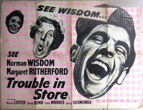 Trouble in Store (Norman Wisdom) UK British Quad Original Movie Poster 70s
