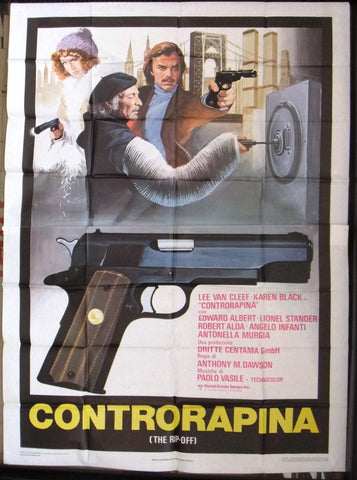 Controrapina (Lee Van Cleef) Italian 4F Movie Original Poster 70s