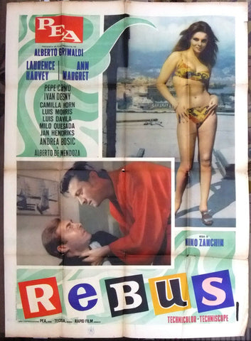 Rebus L. HARVE ANN-MARGRET LAURENCE HARVEY 2F Movie Italian Poster 60s