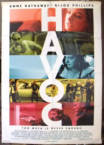 "HAVOC (ANNE HATHAWAY) 39x27"" Original Lebanese SS Movie Poster 2000s"