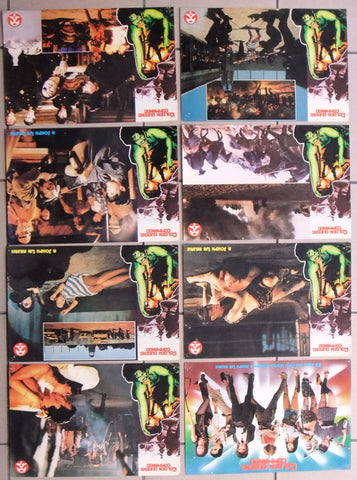 (Set of 8) Golden Queen's Commando Rare Kung Fu Original Lobby Card 80s