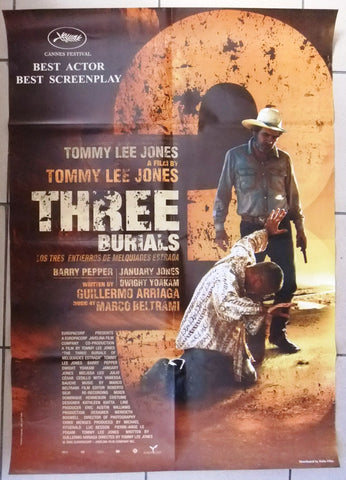 "The Three Burials of Melquiades Estrada 39x27"" Org. Lebanese Movie Poster 2000s"