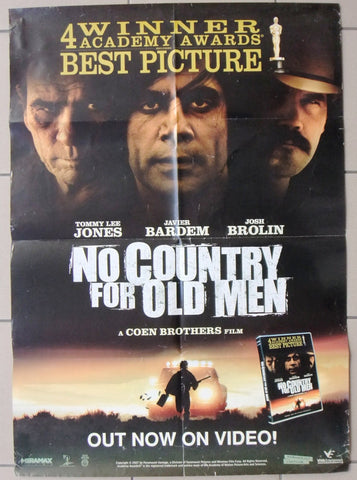"No Country For Old Men 39x27"" Org. Lebanese Film DVD Poster 2000s"