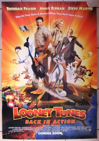 LOONEY TUNES: BACK IN ACTION (BRENDAN FRASER) Original US DS Movie Poster 2000s