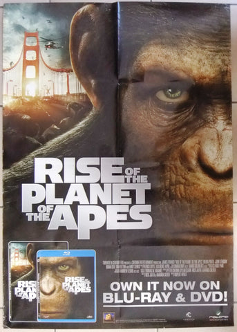 RISE OF THE PLANET OF THE APES Original SS Movie DVD Poster 2000s