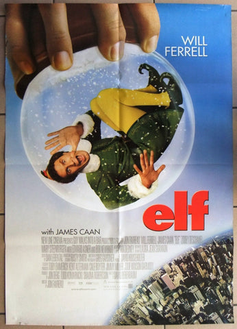 ELF (WILL FERRELL) CHRISTMAS Original SS Movie Poster 2000s
