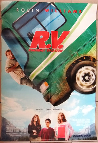R.V. RUNAWAY VACATION ROBIN WILLIAM Original DS US Movie Poster 2000s