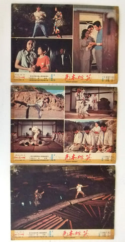 -Set of 3- Knight Errant {Wang Yu} Rare Kung Fu Film Lobby Card 70s