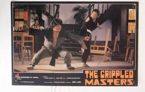 (Set of 10) The Crippled Masters Jackie Conn Kung Fu Chinese Org. Lobby Card 70s
