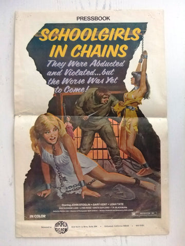 Schoolgirls in Chains (John Parker) Original Movie Pressbook 70s