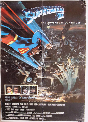SUPERMAN 2 {CHRISTOPHER REEVE} Original Lebanese Movie Poster 80s