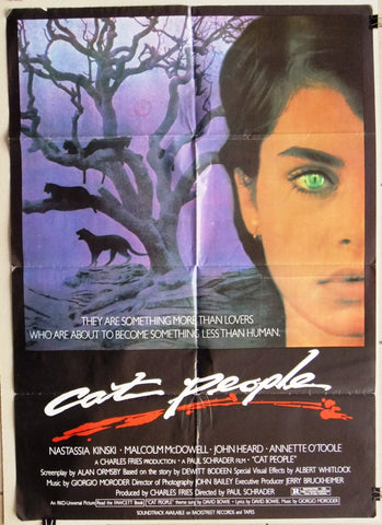 "Cat People (Natassia Kinski) 39x27"" Original Lebanese Movie Poster 80s"