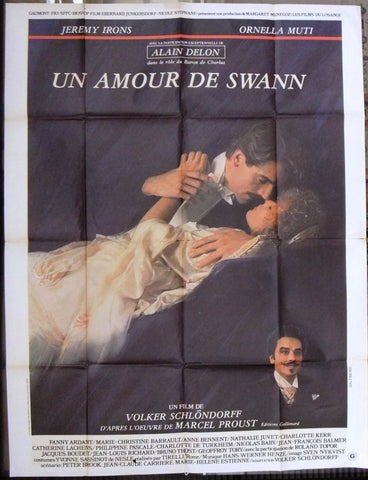 "Un amour de Swann (Jeremy Irons) 63x47"" French Movie Poster 80s"
