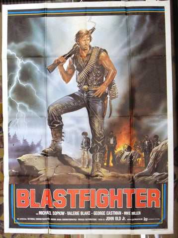 Blastfighter (Michael Sopkiw) 2F Italian Original Movie Poster 80s