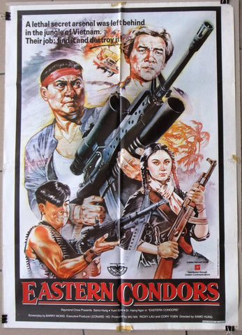 "Eastern Condors (Sammo Hung) 39x27"" Original Lebanese Movie Poster 80s"