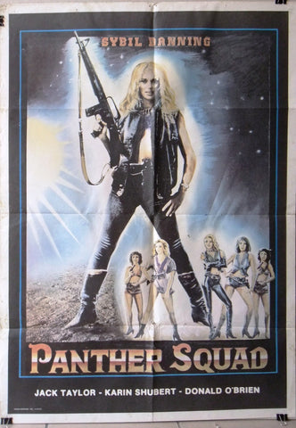 "Panther Squad (Sybill Danning) 39x27"" Original Lebanese Movie Poster 80s"