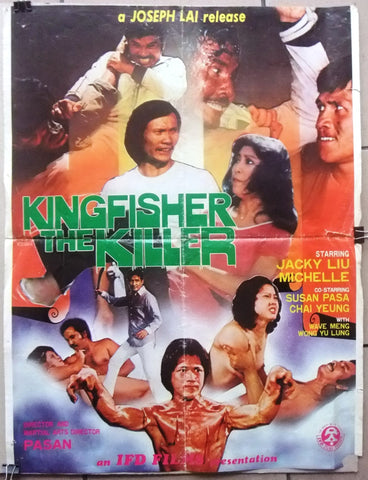 Kingfisher the Killer (Hung Yi Liu) Chinese Originl Kung Fu Movie Poster 80s