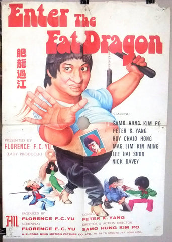 Enter the Fat Dragon {Sammo Hung} Original Kung Fu Movie Chinese Poster 70s