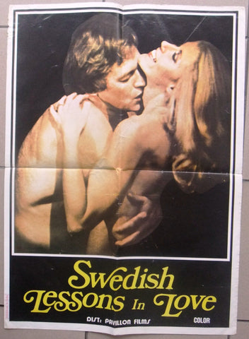 Swedish Lessons In Love {Irene Kent} Lebanese Original Movie Poster 60s