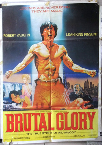 "Brutal Glory {Koos Roets} 39""x27"" Original Lebanese Movie Poster 80s"