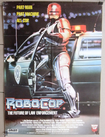 Robocop {The future face of law enforcement} US Original Film Virgin Poster 80s