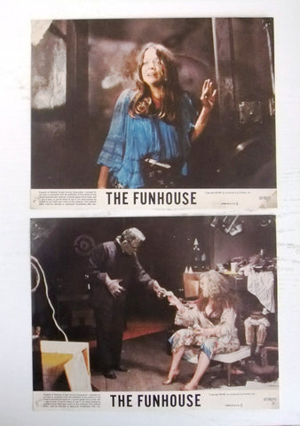 "{Set of 3} The Fun House (WILLIAM FINLEY) 10X8"" Org. Movie LOBBY CARD 80s"