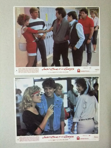 "{Set of 8} Just One of the Guys Joyce Hyser 10X8"" Org. Movie LOBBY CARD 80s"