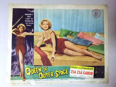 "Queen Of Outer Space (Zsa Zsa Gábor) 11x14"" Original #5 Lobby Card 50s"