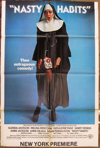 "Nasty Habits (Jerry Stiller) 41""x27"" Original Movie US Poster 70s"