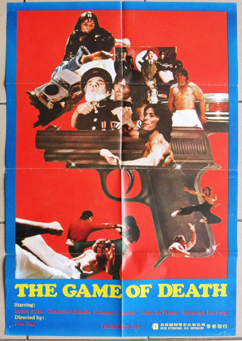 The Game of Death Hong Kong Kung Fu Original Movie Poster 80s