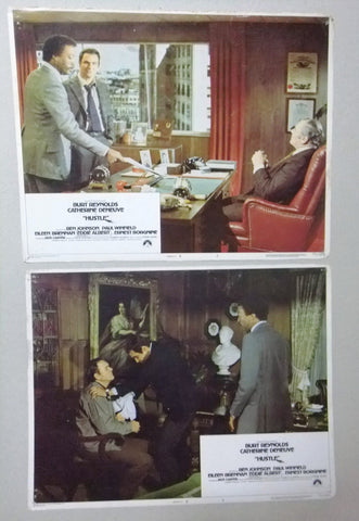 (Set of 8) Hustle (Burt Reynolds) 11x14 Org. U.S Lobby Cards 70s